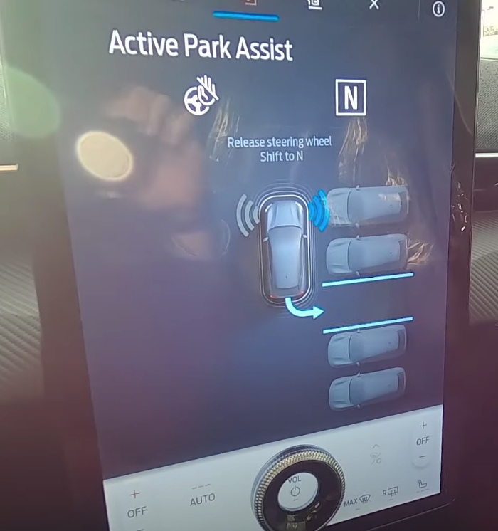 Active park assist guidance to guide a user step by step