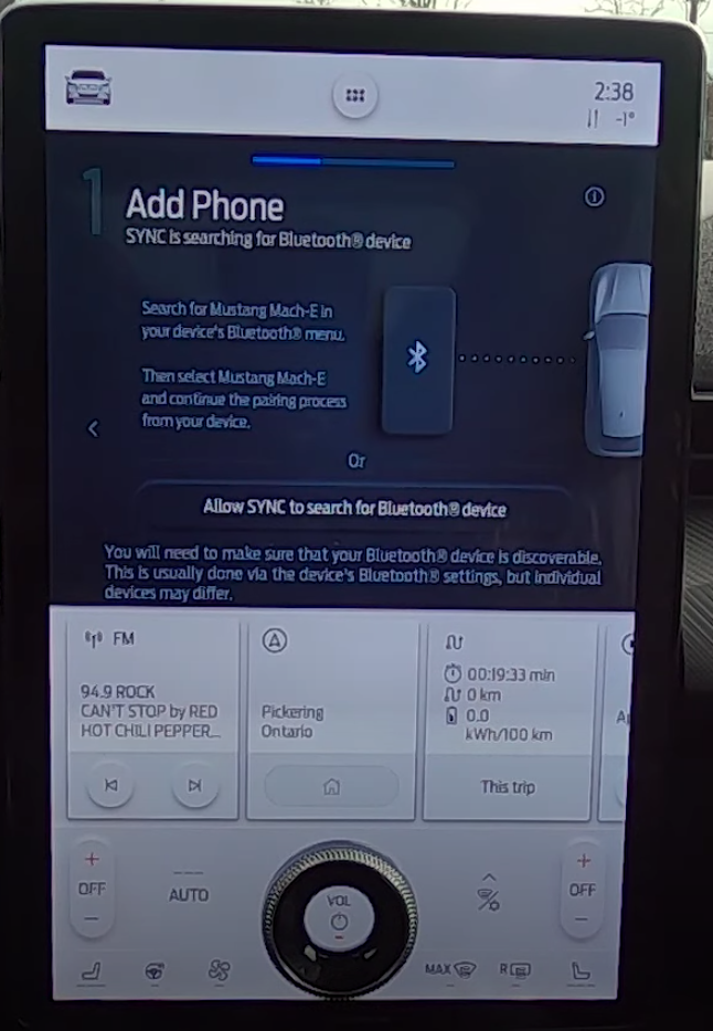 Step by step guide on how to pair a phone through bluetooth