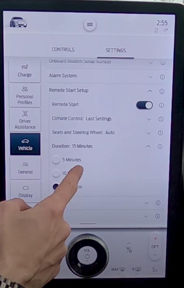 Adjusting driving presets for the remote start