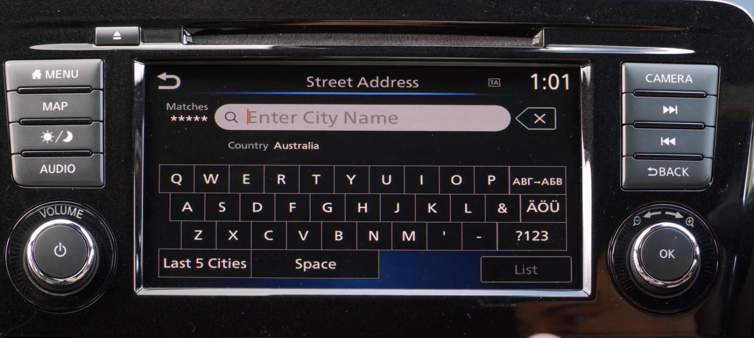 Virtual keyboard to enter an address to