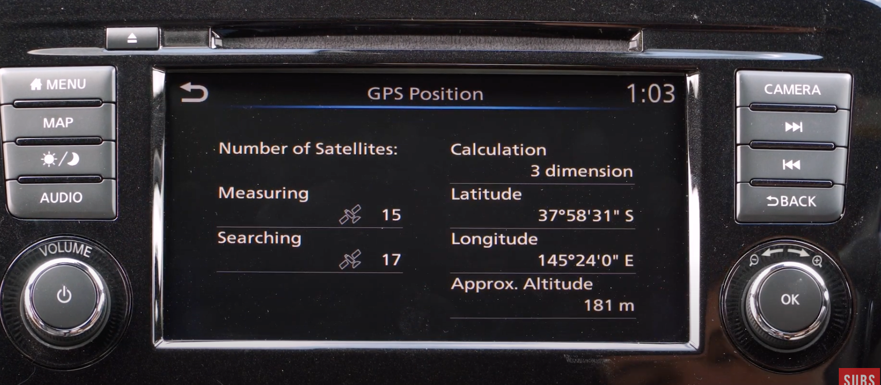 Information about the current GPS position such as number of satellites