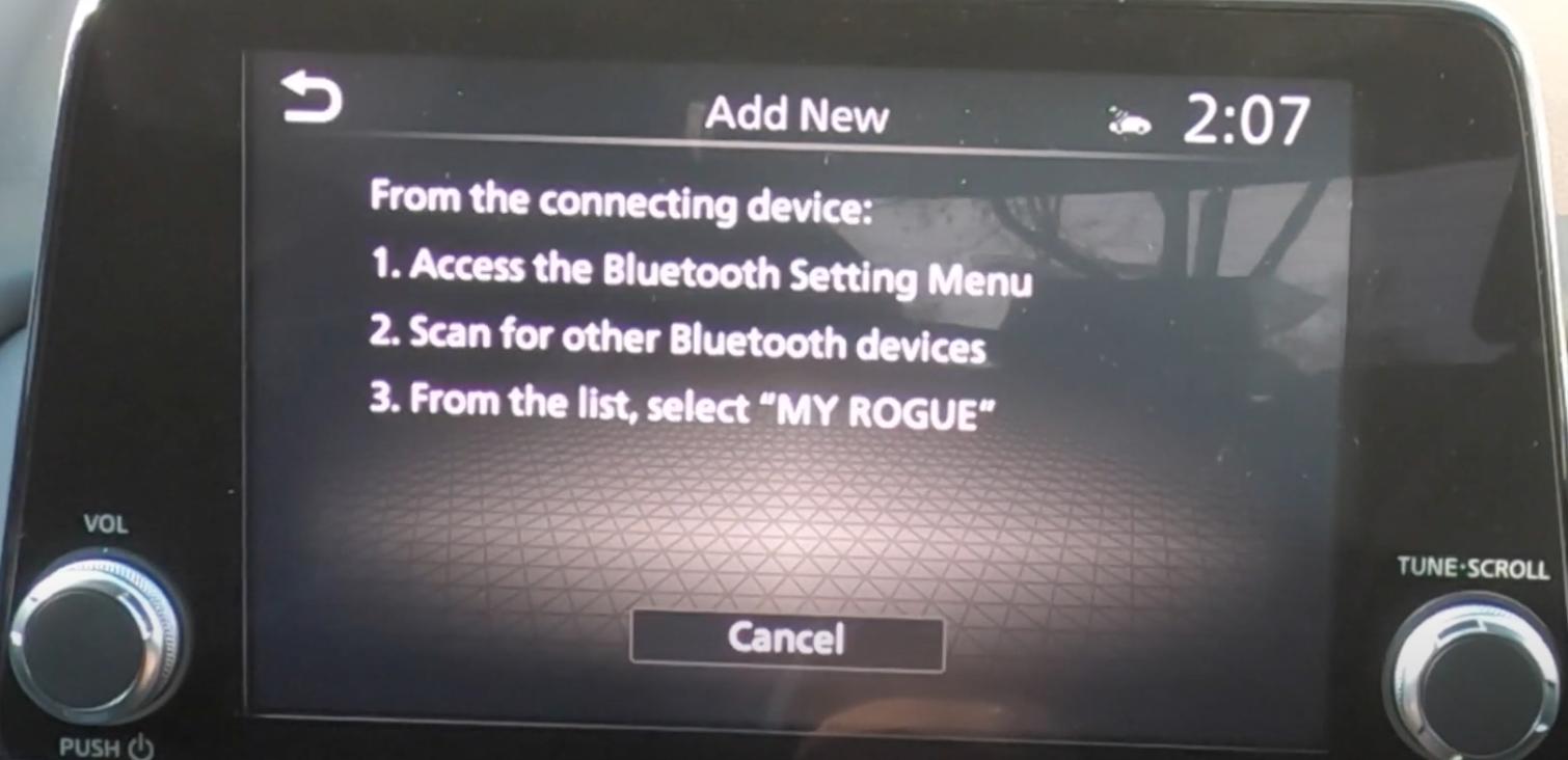 A list of steps to pair a smart phone through Bluetooth