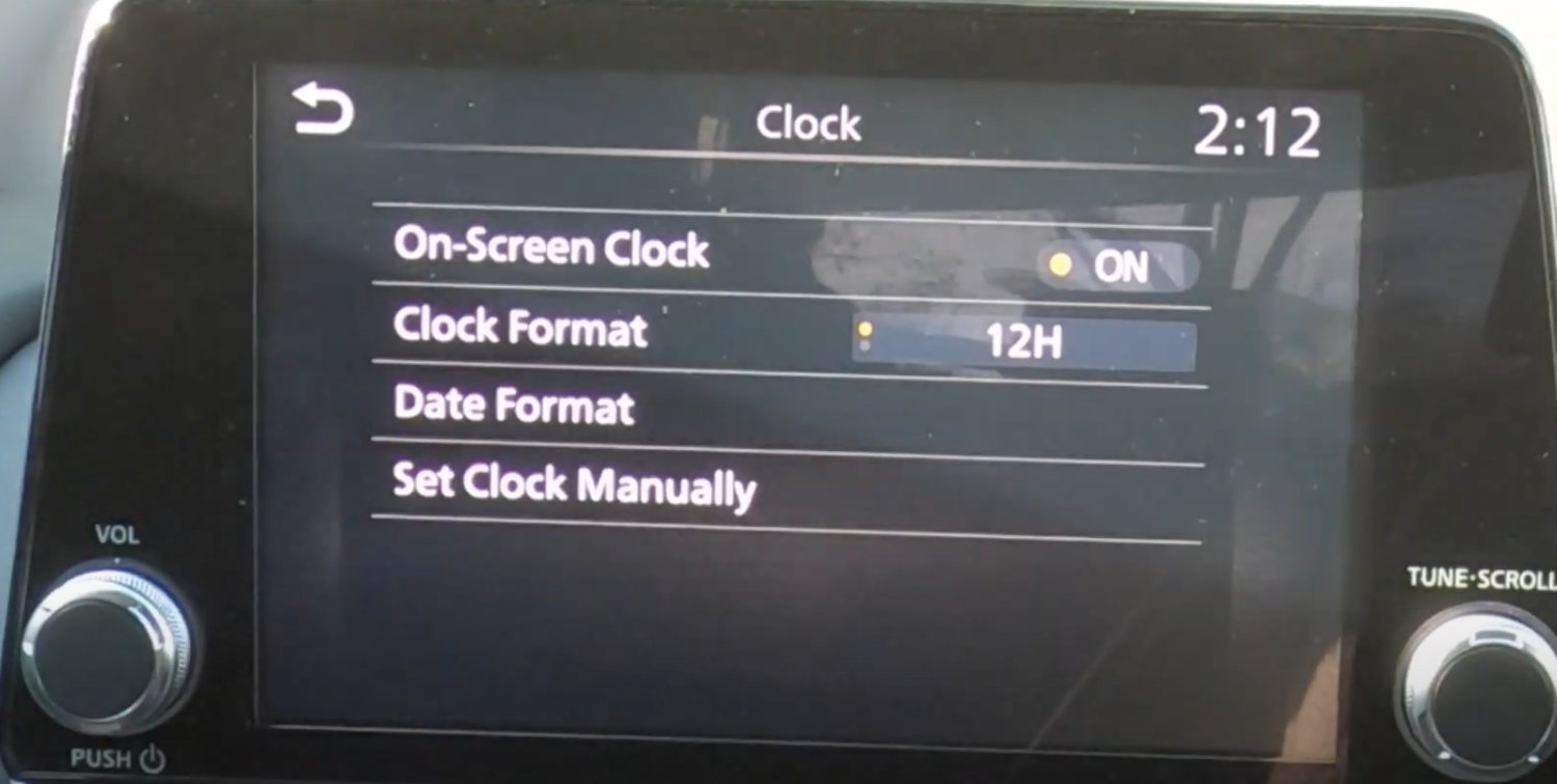 Adjusting the clock settings such as date format and clock format