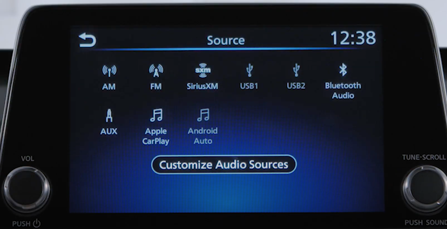 Customizing the sources for the media player from a list of options