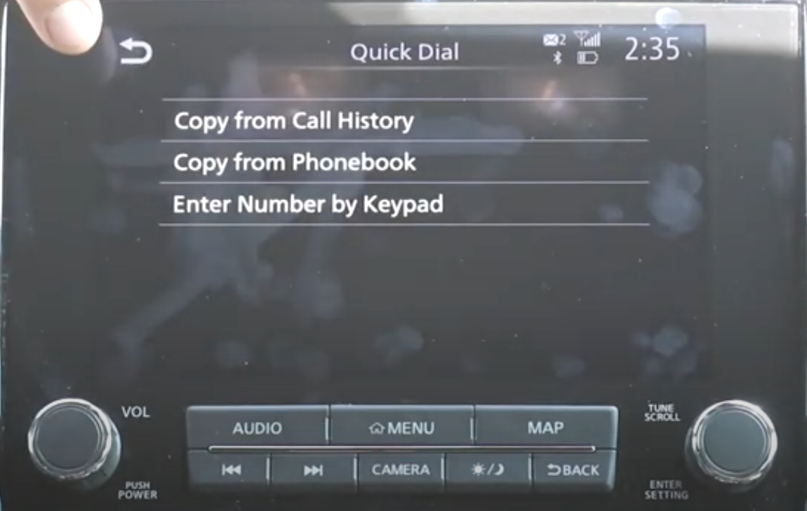 To add a favorite contact there are three options, copy from call history or phonebook or entering the number by keypad