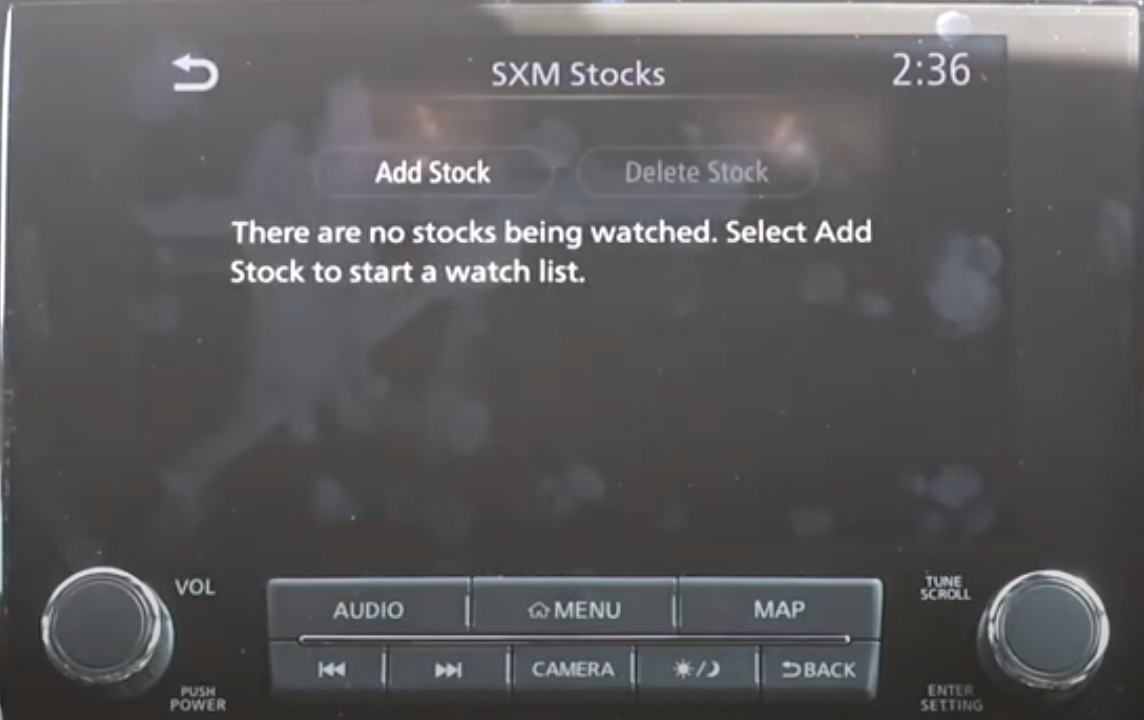 Option to add or delete stocks to start a watch list