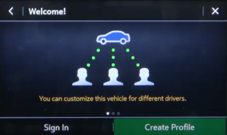 The option to create a profile and an illustration to portray that one vehicle can have multiple drivers