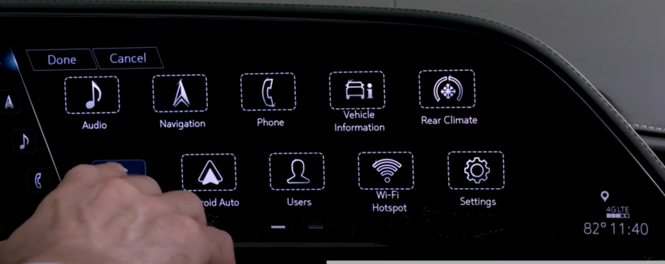 Customizing the order of various apps that are on the infotainment screen