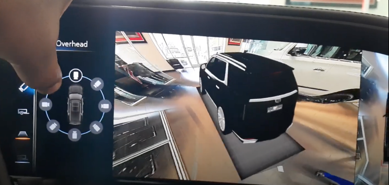 360 camera showing the back of the 3D model car