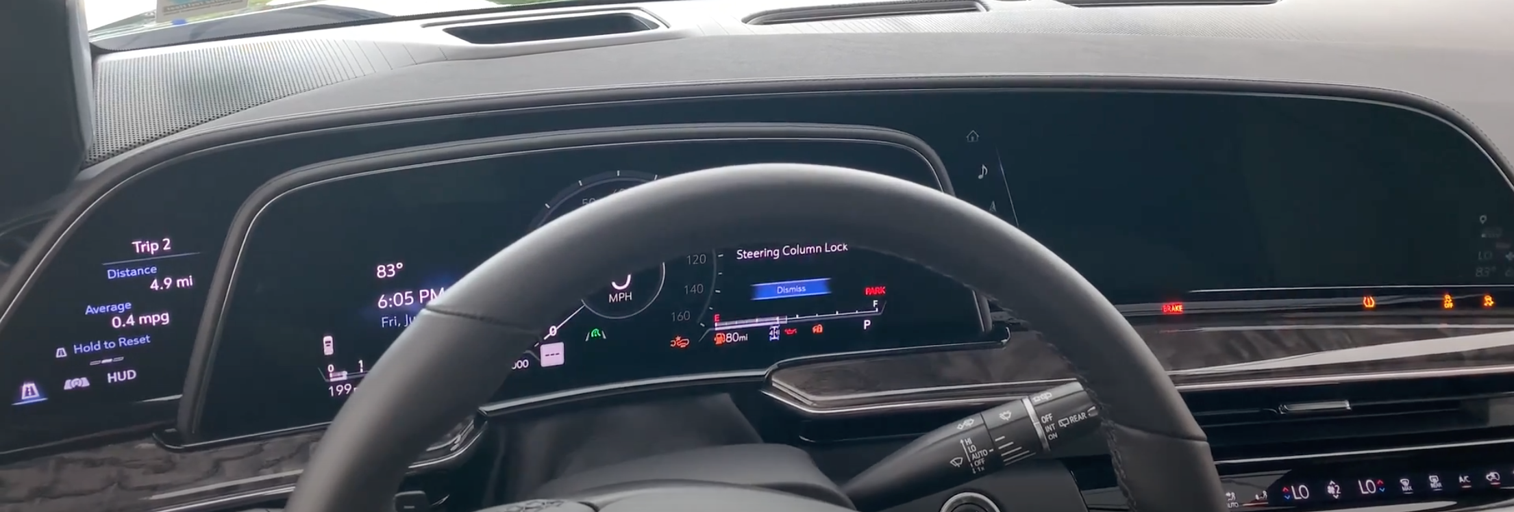Touch surfaces of a car including the infotainment system and gauge cluster