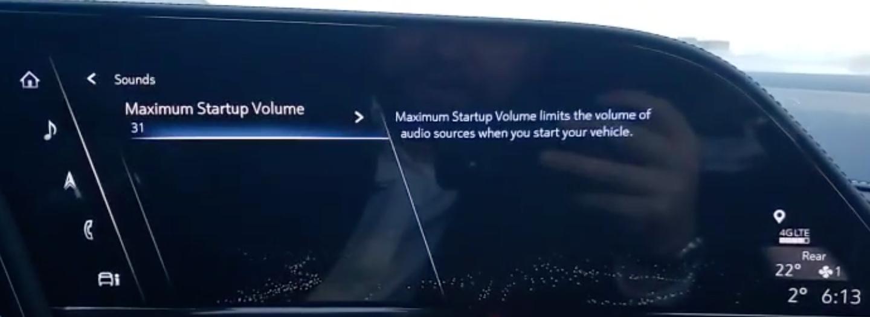 Setting up the maximum startup volume
