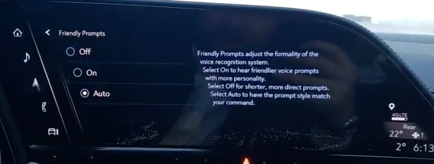 Turning on or off friendly prompts for the voice assistant