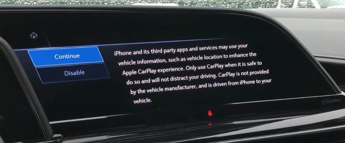 Disclaimer letting a user know that third party apps may use collected data