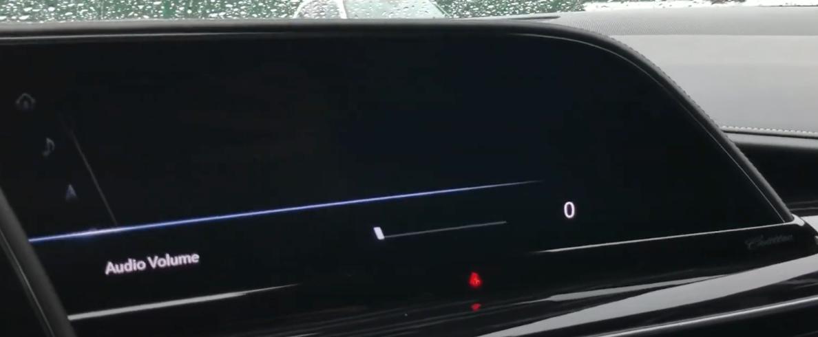Adjusting the audio volume through a slider
