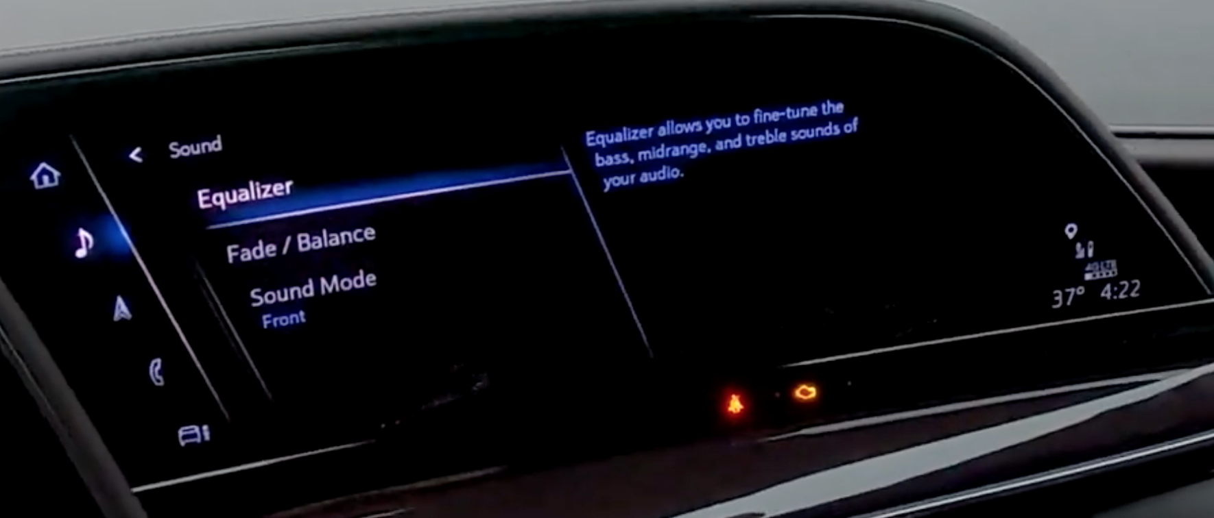 Media sounds settings for the equalizer