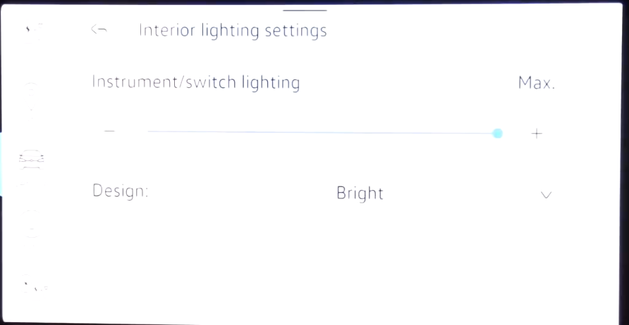 Settings for the display such as chosing between dark and light theme