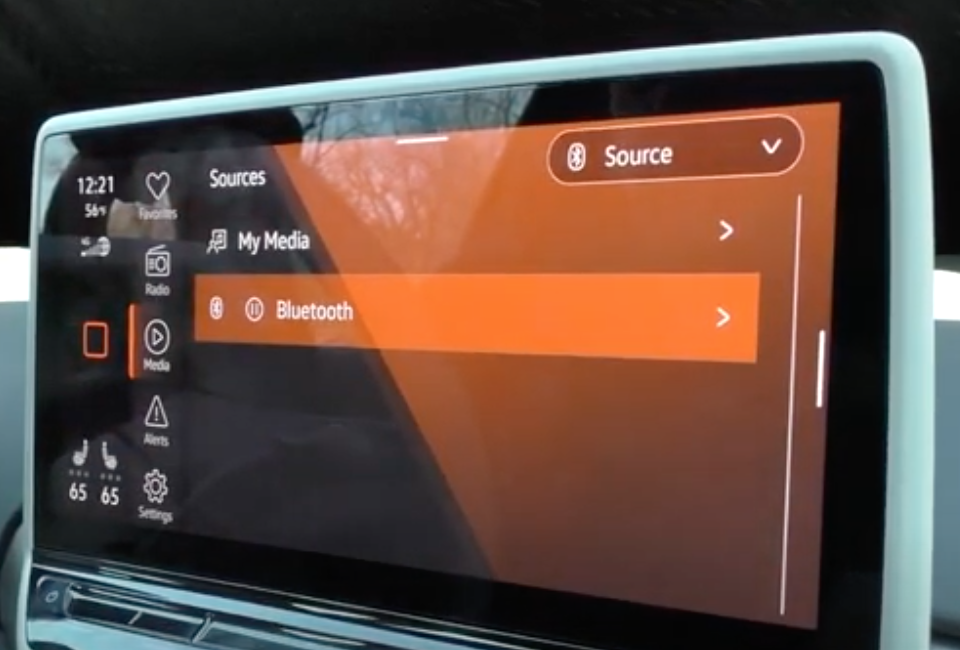 Option to chose from different media player sources such as bluetooth or radio