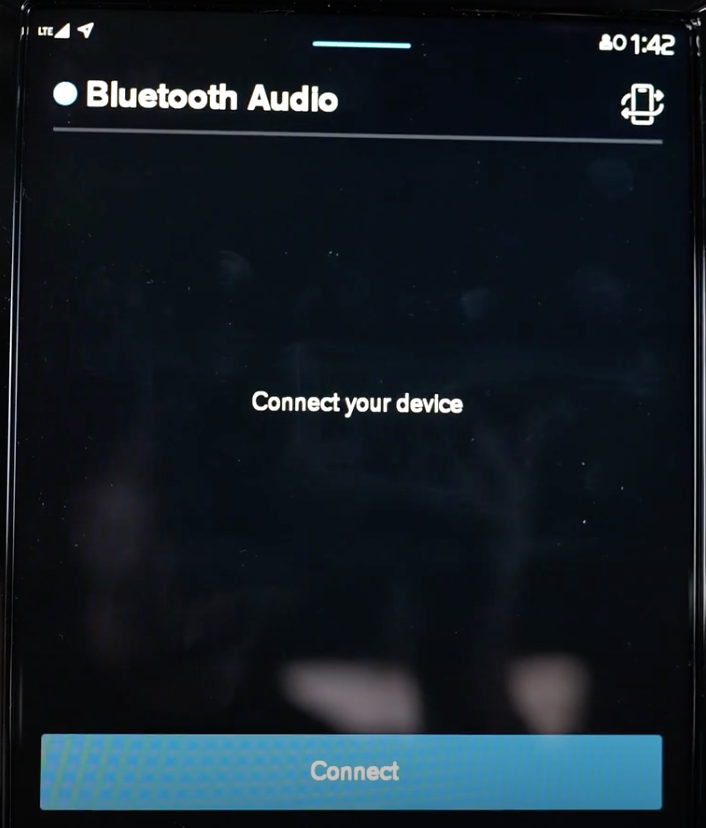 The option to connect an audio source through bluetooth pairing