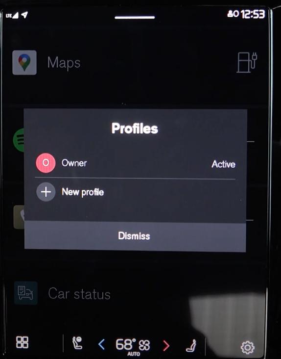 Option to create a new profile