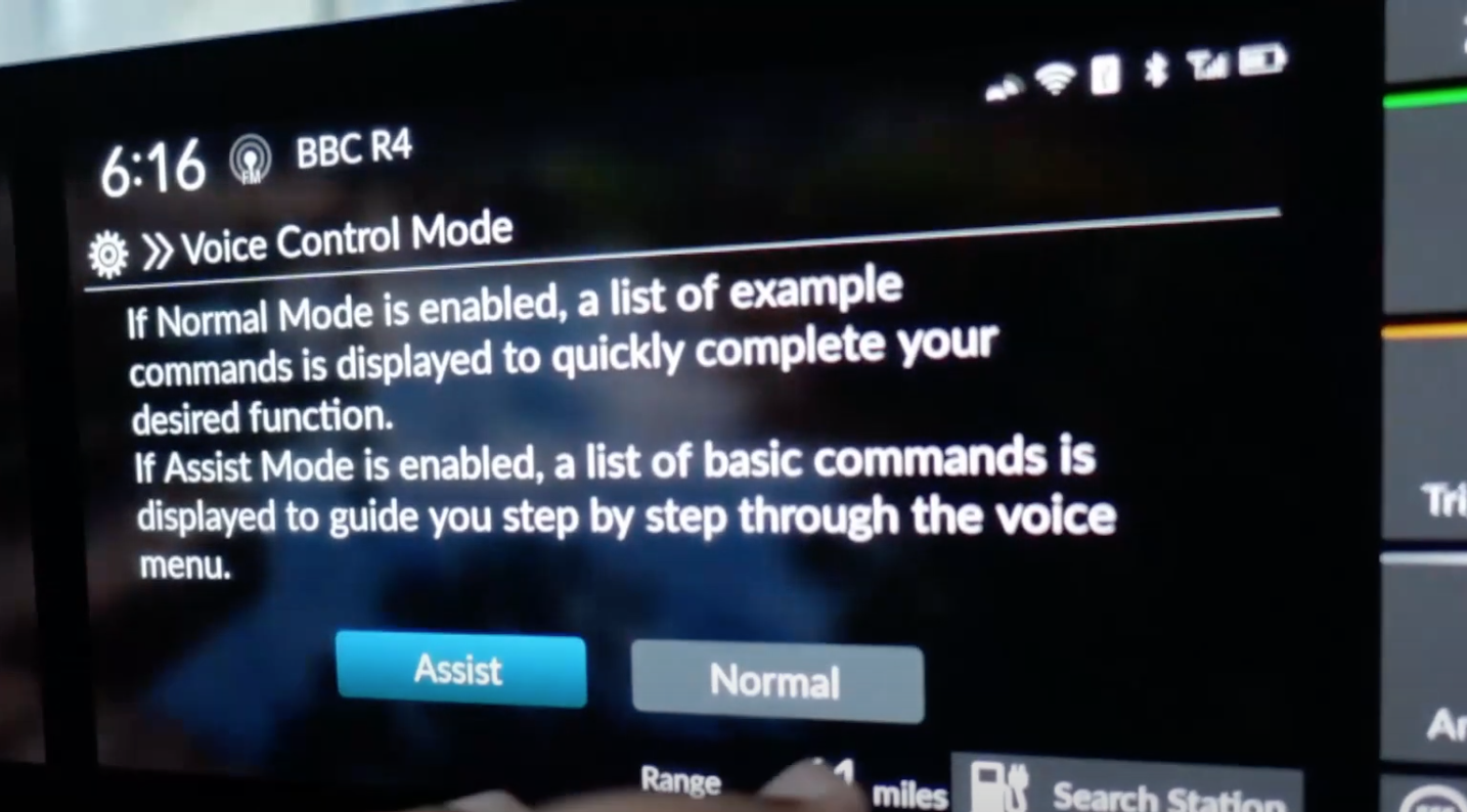 Chosing if the voice control mode should be assist or normal through digital buttons