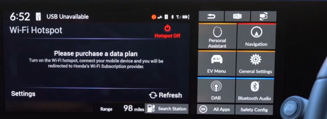 Wi-fi hotspot screen indicating to a user that they need to purchase a data plan in order to use hotspot