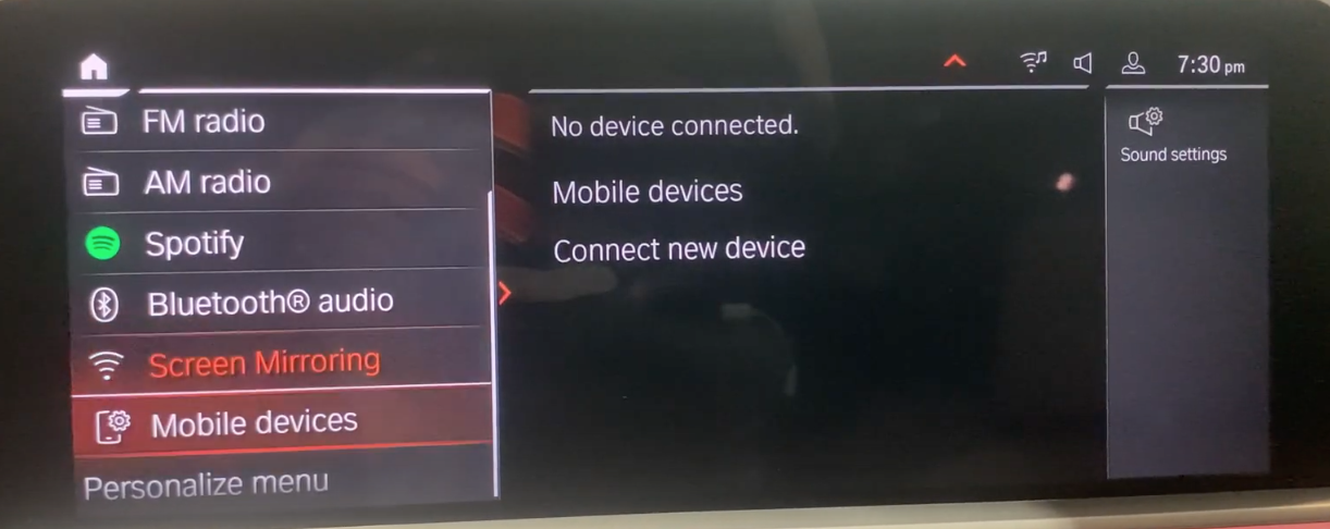 Accessing device manager through the sources in the media player