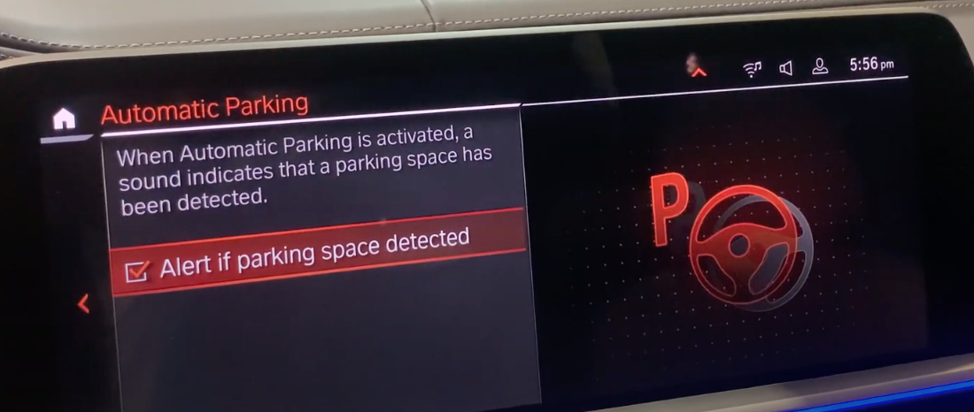 Turning on and off the audible alert indicating that there is a parking spot available