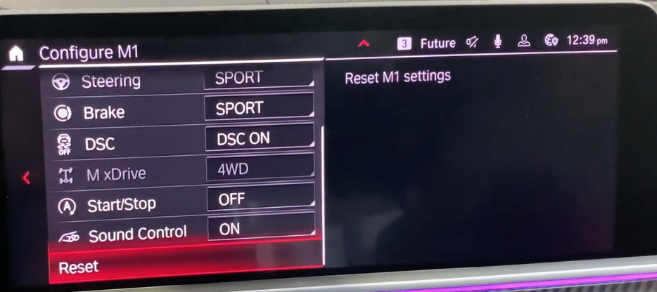Configuring settings for the driving modes