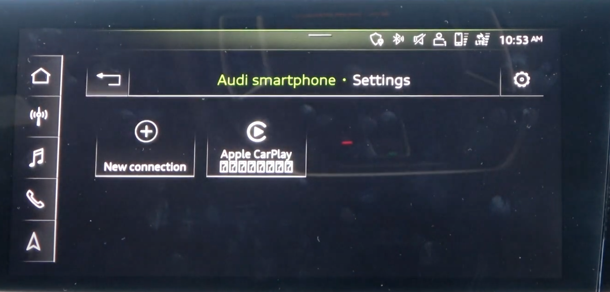 Device manager screen with paired devices listed and option to connect a new device