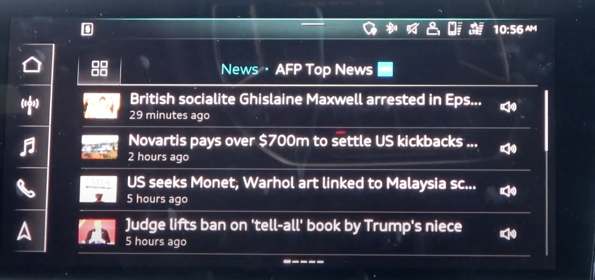List of most recent news to browse from