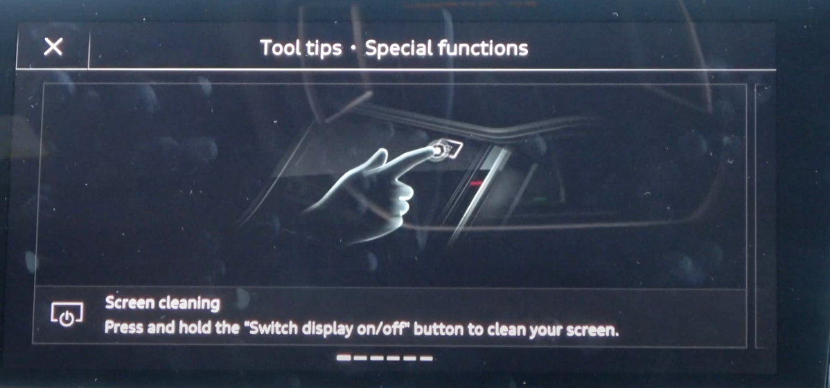 Screen showing a tool tip with an illustration of a gesture to portray how it is used