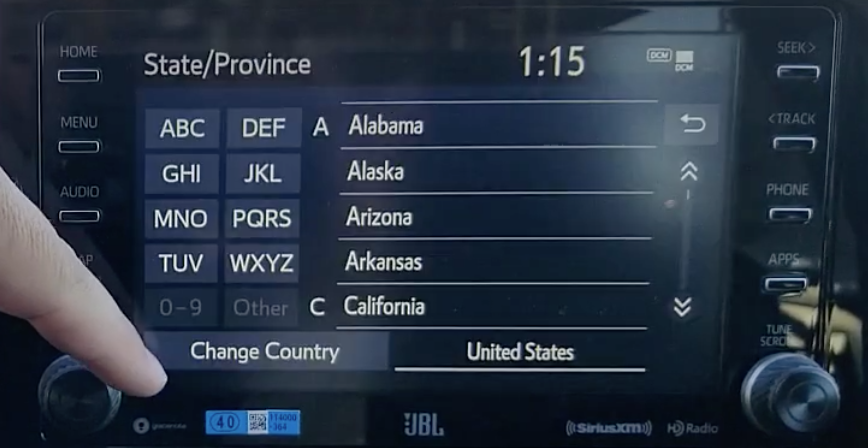 Selecting a province from a long list of provinces