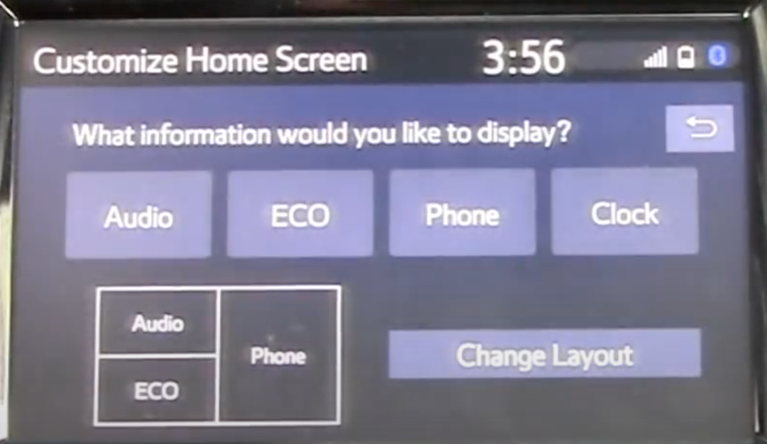 Changing the home screen layout from a few options and setting up which apps a user would like to prioritize