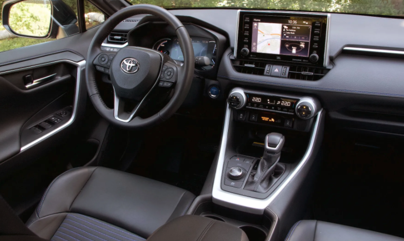 Photograph of a cabin interior showcasing the touch surfaces of the vehicle