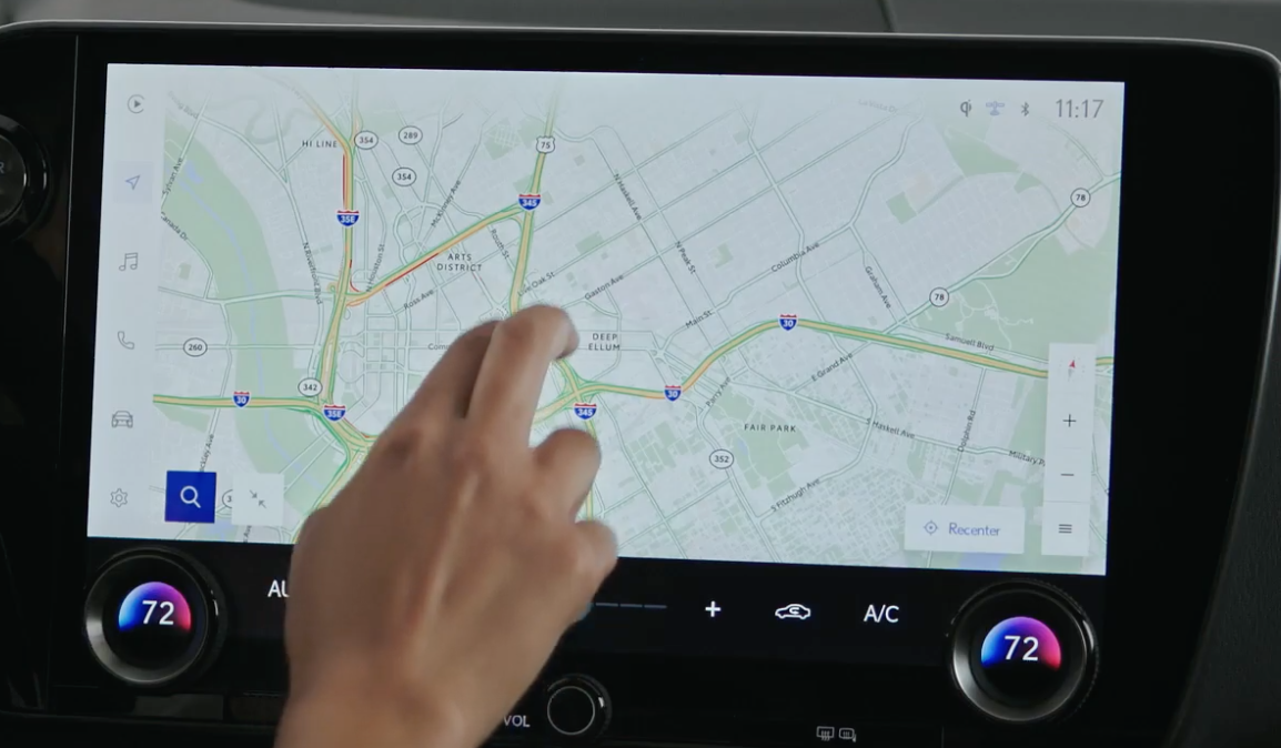 Map view within the navigation system