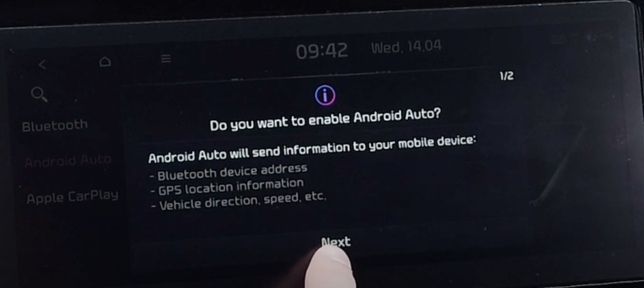 Option to enable Android Auto