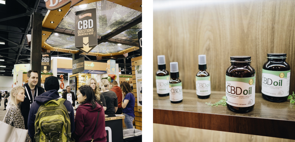 Product samples that include CBD.