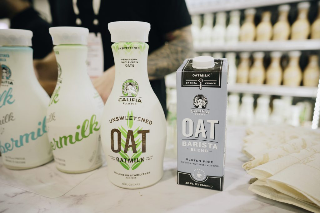 Product samples that include oats.