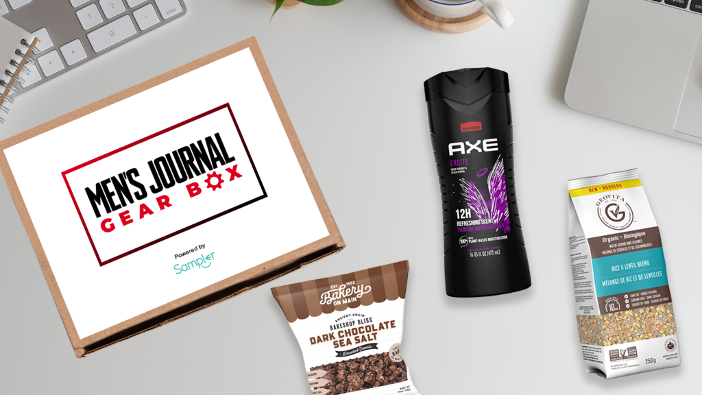 Men's journal and In Touch Weekly partnership Sampler box