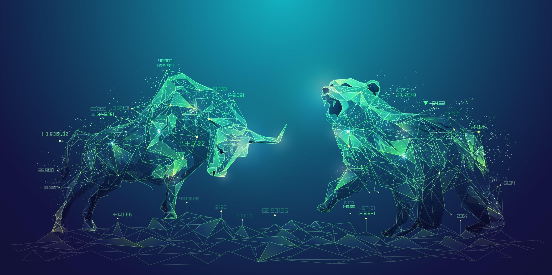 Bull and bear stock market