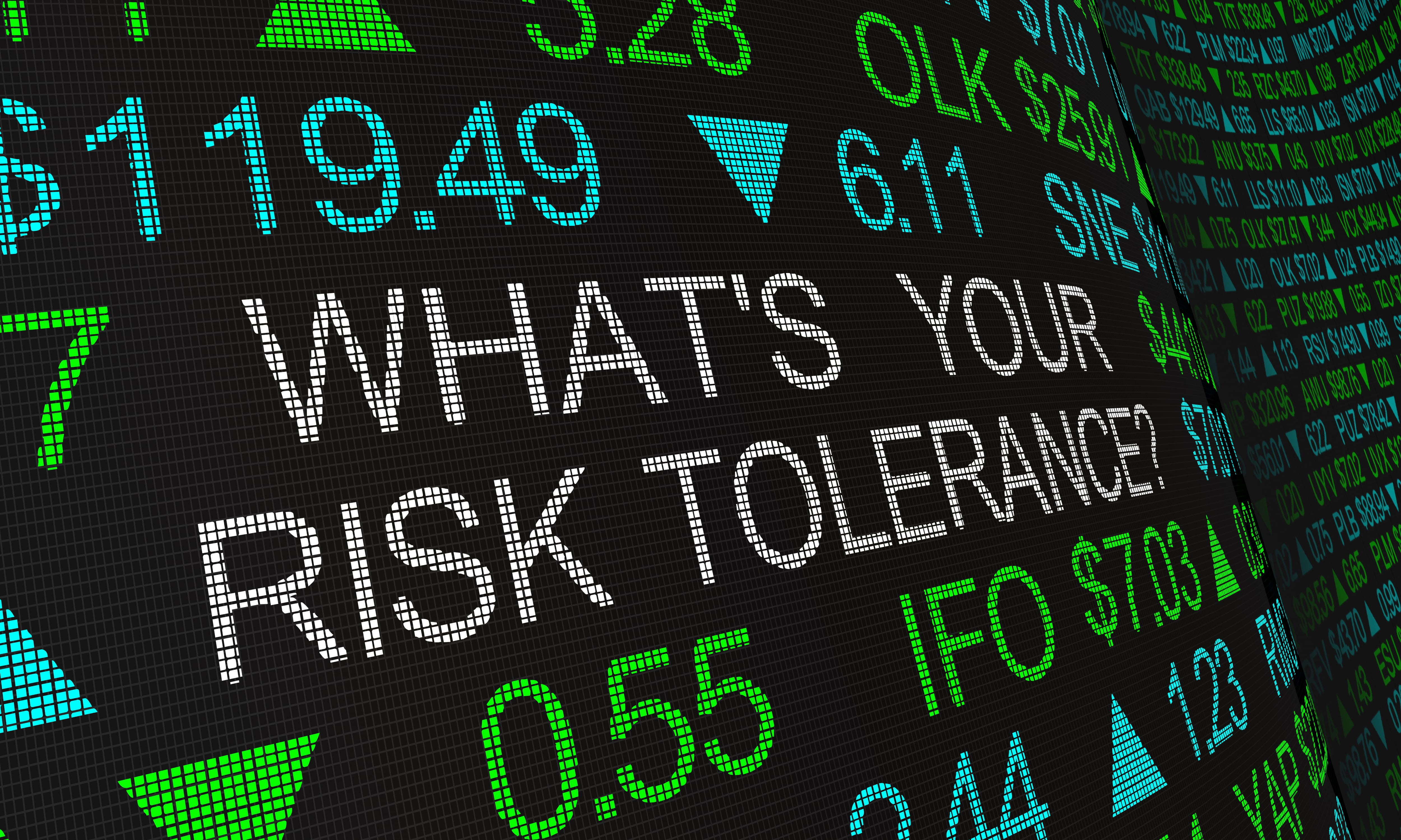 Stock market numbers asking for the risk tolerance