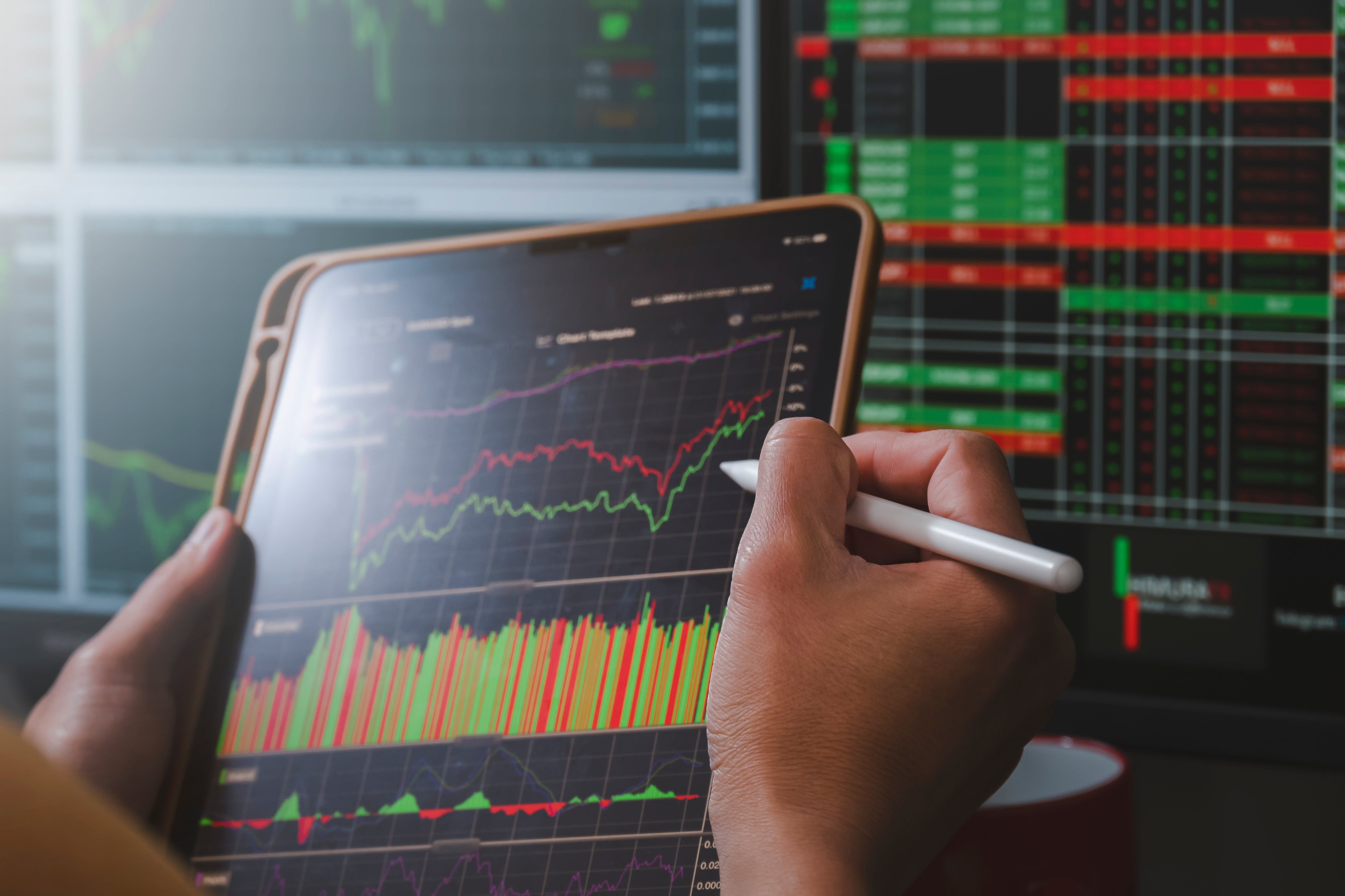 Analyzing stocks to place a market order