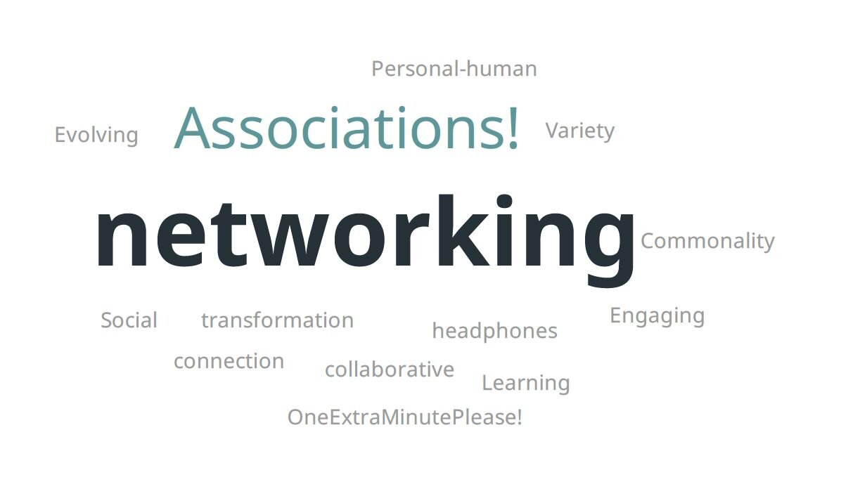 What attendees said was the dominant theme in their discussions re: building community engagement