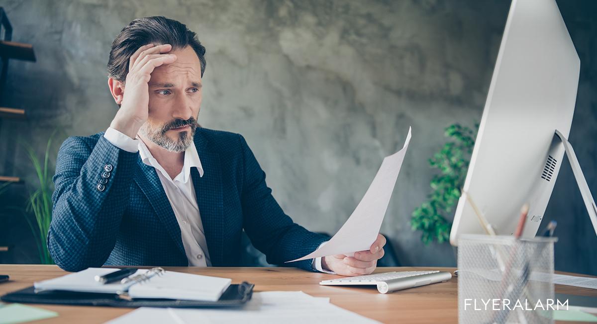 Die 5 häufigsten Fehler beim Erstellen von Druckdaten