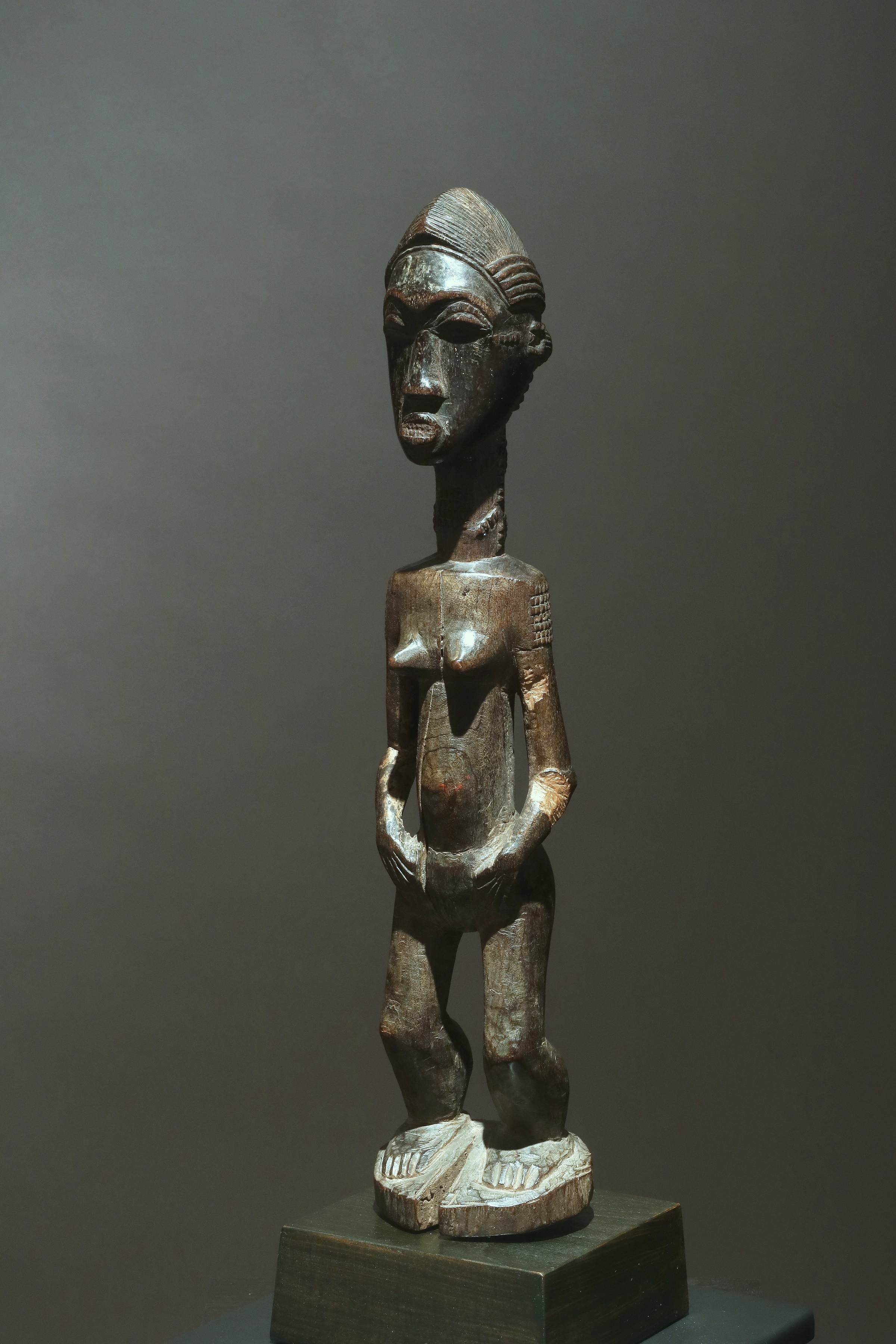 "Female figure ""blolo bla"""