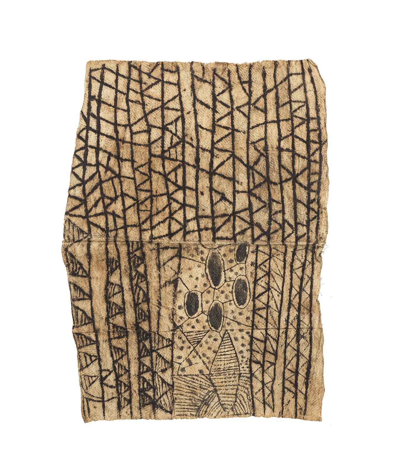 Mbuti Painting on Bark Cloth