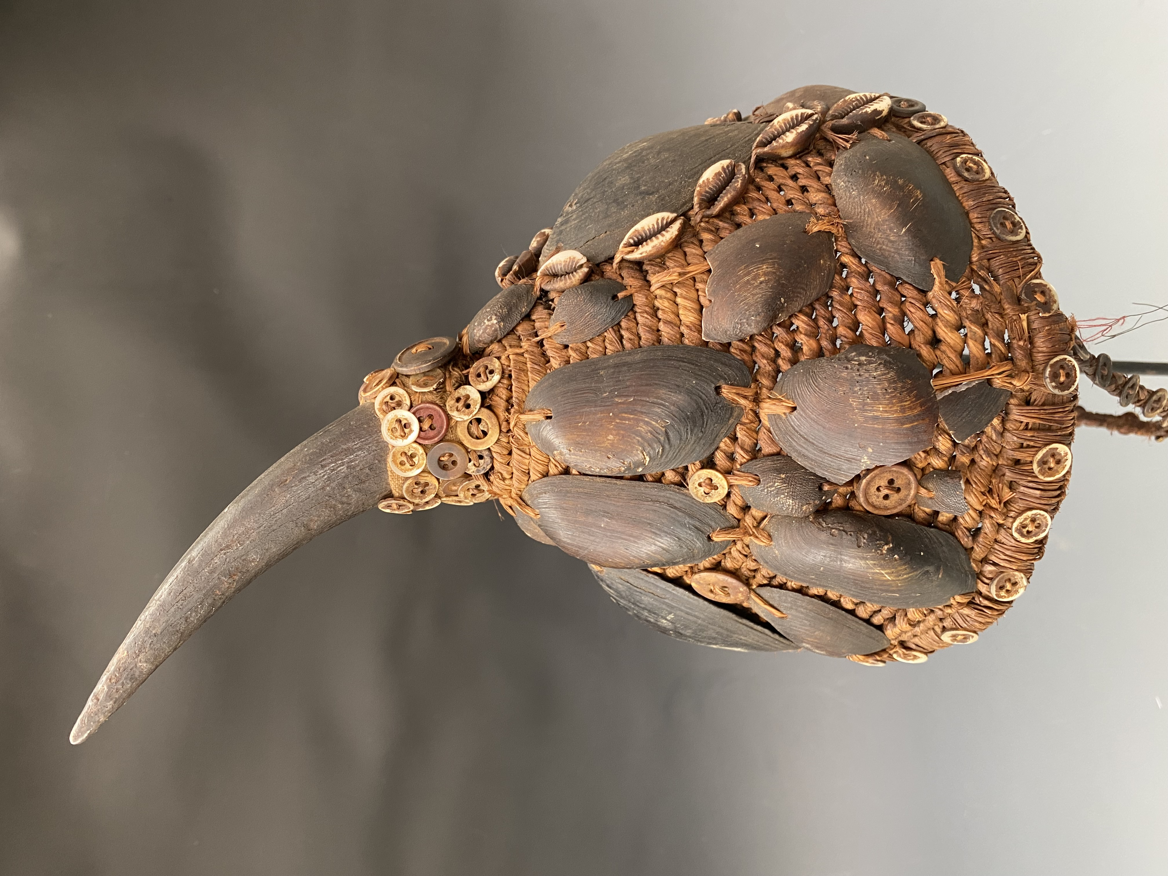 Naga Headhunters Hatwith Horn& Shell