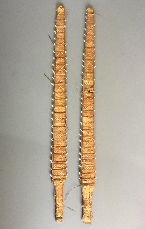 A Pair of Kiribati Island Shark Tooth Sword Clubs ( Gilbert Islands )