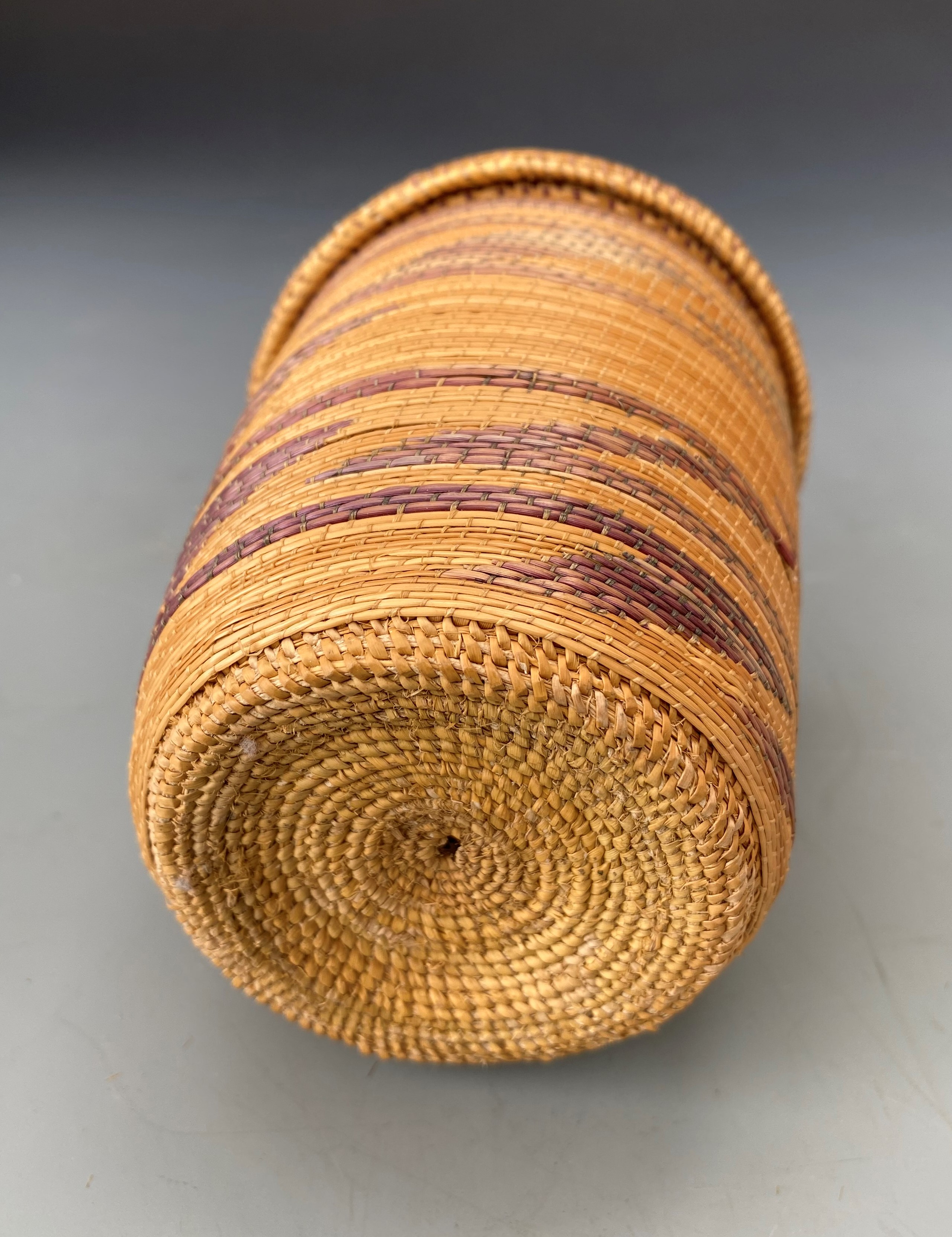 Two Fine Tutsi Agaseke Baskets one with Double - Layered