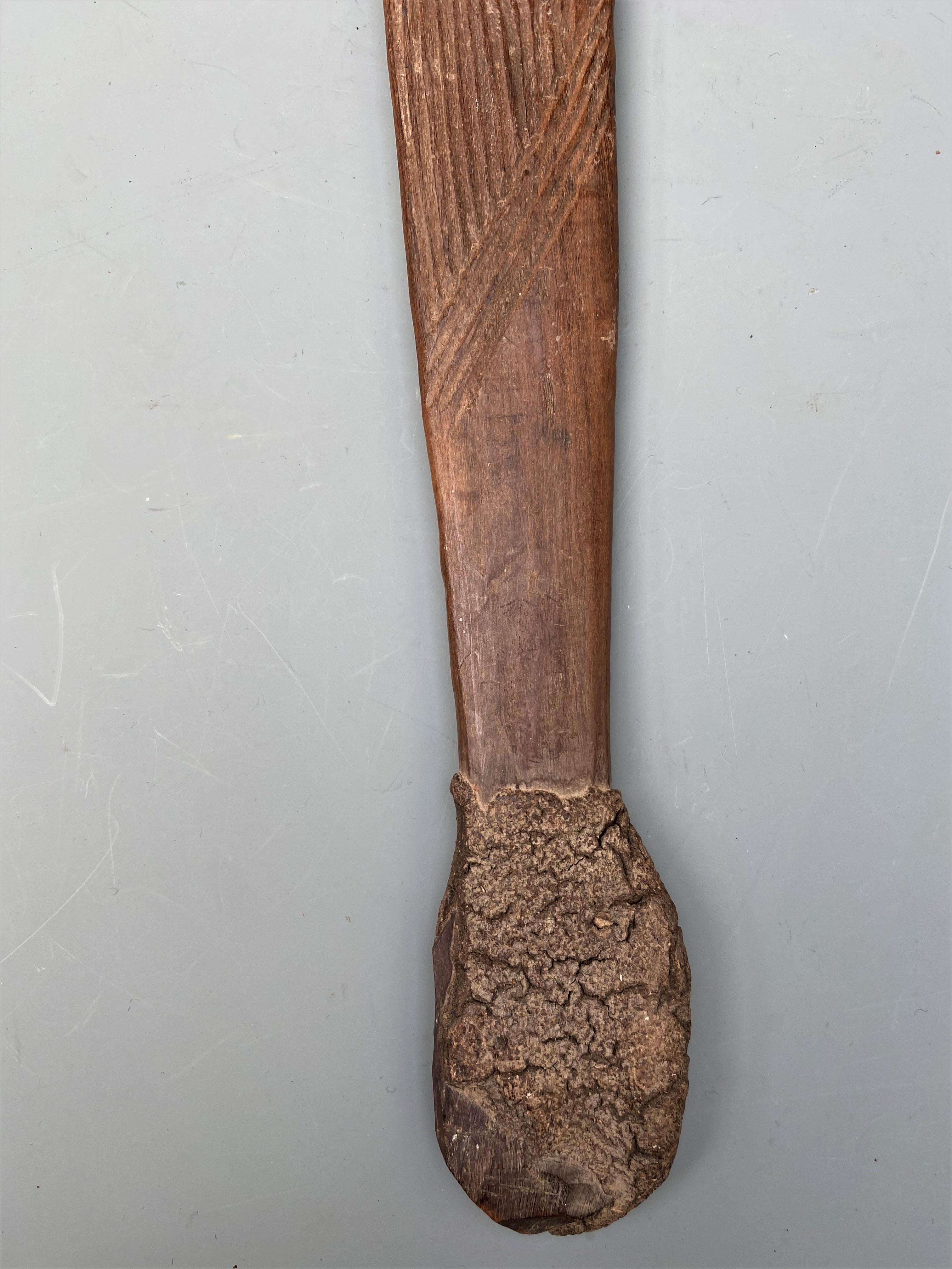 Good Aboriginal Woomera with Carved Decoration Australia